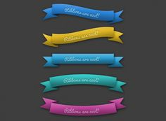 Ribbons - 365psd
