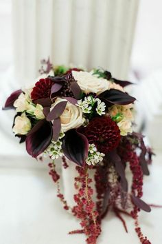 Photo: CLY by Matthew; Cranberry and Gold New York Wedding at NYIT de Seversky Mansion from CLY by Matthew - bridal bouquet