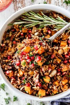Wild Rice with Butternut Squash - Carlsbad Cravings Wild Rice Recipes, Real Food Recipes, Cooking Recipes, Healthy Recipes, Cooking Tips, Yummy Food, Vegan Dinners, Tasty Meals, Sweet Potato Side Dish