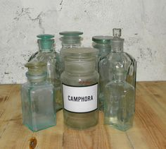 Medical bottles of thick glass with inscriptions in by USSReturn