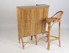 TIKI BAR - Barra tiki Bambú 50s 60s - Muebles y decoración - Vintage - popcloudmarket.com/midtempo