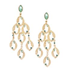 Sweeping Feathers Chandelier Earrings #green #holidaycollection #chloeandisabel   http://ashleywicks.chloeandisabel.com