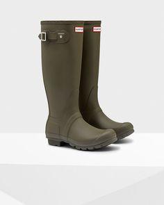 The iconic Original Tall Rain boot - swamp green. Olive green hunter rain  boots ...