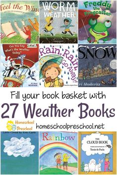 27 of the Best Weather Books for Preschoolers and Kindergarten Learning about weather is a favorite activity for kids of all ages! Here are some of our favorite preschool books about weather. via Homeschool Preschool Kindergarten Books, Preschool Books, Preschool Lessons, Science Books, Science Activities, Activities For Kids, Science Notebooks, Science Education, Science Experiments