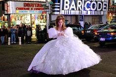 #5: Enchanted As far as princess wedding dresses go, Giselle's wedding dress in Enchanted really takes the cake. In fact, it's so huge, she has trouble doing simple things like going through doors. She does go for a more demure style once she embraces the New York lifestyle, but we sort of like the pouffy gown.