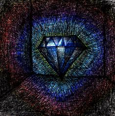 Whoa this is art!    daingifs:    Diamond in room.  ink pen and color dye marker on paper  GIF  ©2012 I>/-\i/\/8)  Happy New Year! Happy Days are Here Again! Thanks EVERYBODY! 8) 8) 8)  The original drawing used to create this GIF is available to purchase online  http://dainfagerholm.bigcartel.com/product/diamond-in-room