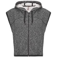 Sweaty Betty Parivrtta Yoga Gilet ($120) ❤ liked on Polyvore featuring activewear, jackets, tops, blackmarl, yoga activewear and sweaty betty