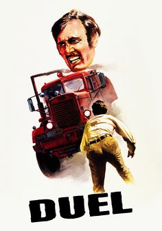 Duel (1971) - Steven Spielberg. Think Jaws, but on land; and instead of a shark, think of a menacing, faceless driver behind a sinister black truck.....and this a Duel to the death.