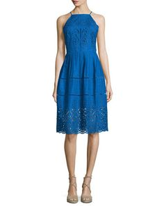 Alana+Embroidered+Eyelet+Dress,+Glacius+by+Parker+at+Neiman+Marcus.