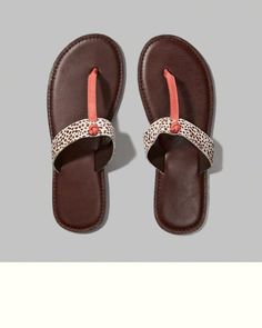 Womens Leather T-Strap Sandals