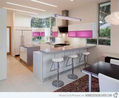 15 Astounding Peninsula-Shaped Modern Kitchens -   #kitchen #kitchen design #kitchen layout #peninsula-shaped kitchen - #interiordesign #home #house #housedecoration