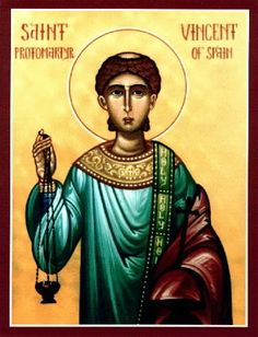 Icons of St. Vincent of Zaragoza, Deacon & Martyr