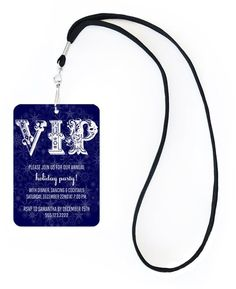 Ornament Blue VIP Invitation #office #business #corporate #holiday #party #invitation