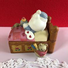 ヤフオク! - キティ ハローキティ ベッド 小物入れ 陶器製 陶...