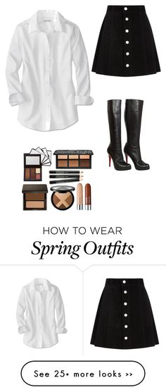 """""""The girl outfit"""" by asiannaluxxx on Polyvore featuring AG Adriano Goldschmied, Christian Louboutin, skirt and dress"""