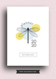 capa_libélula Agenda Planner, Study Planner, Happy Planner, Planner Template, Printable Planner, Free Printables, Planner Stickers, Album Scrapbook, Lettering Tutorial