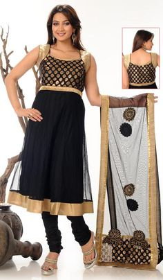 G3 Fashions Black Net Wedding Wear Designer Salwar Suit  Product Code : G3-LSA104649 Price : INR RS 4870