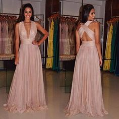 Simple A Line Prom Dress,Cross Straps Prom Dress,MB 432