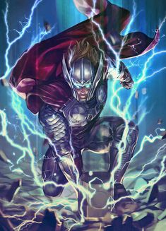 War of the Realms Battle Lines variant cover - Thor by Nexon * Marvel Avengers, Marvel Heroes, Captain Marvel, Heros Comics, Marvel Comics Art, Marvel Characters, Marvel Movies, Marvel Villains, Marvel Comic Character