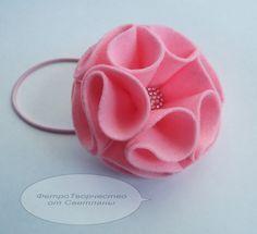 Делаем цветочки из фетра - Ярмарка Мастеров - ручная работа, handmade