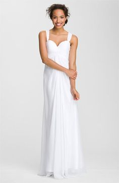 La Femme Fashions Cross Back Chiffon Gown | Nordstrom    The back is beautiful!