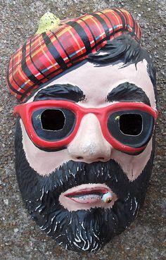 Old Beatnik Halloween Mask......... want