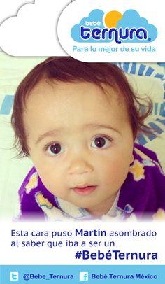 Llegó Martín y asombrado de saber que será un bebé ternura.