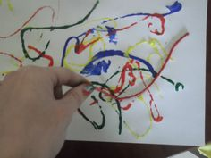 Creative Kidlets 101: Balloon Balls & String Painting :) -- When I did string painting at an after-school program, the students loved it.