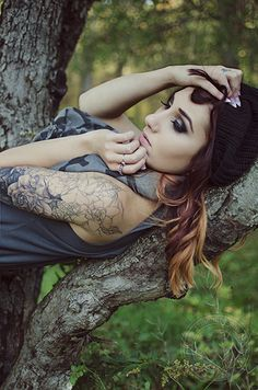 Black and Grey Gardenia Half Sleeve - Inked Magazine #ink #tattoo