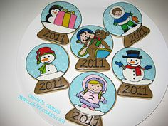 Snowglobe cookies by Cristin's Cookies. Merry Christmas everyone!