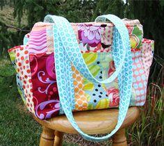 DIY Inspiration Awesome Diaper Bags. I love the bright fabrics! ;) Mo