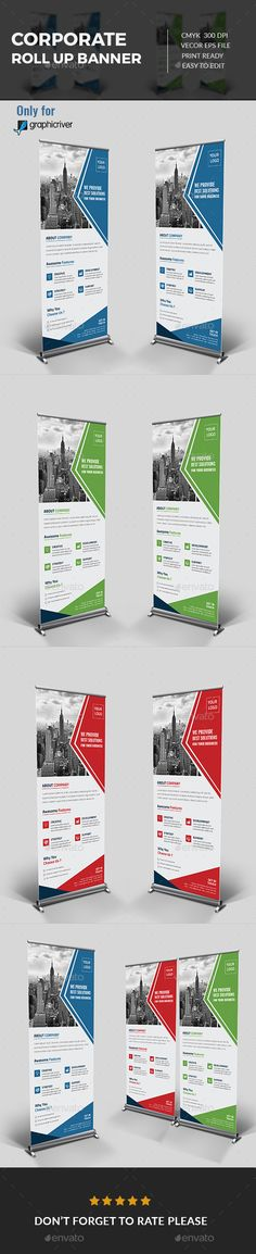#Corporate Roll-up Banner - Signage Print Templates Download here: https://graphicriver.net/item/corporate-rollup-banner/17211075?ref=classicdesignp