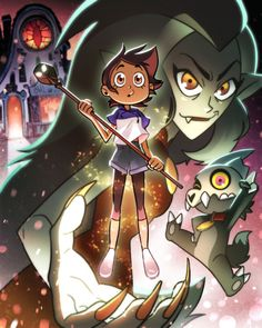 The Owl House is an animated fantasy/horror comedy series produced by Disney Television Animation and created by Dana Terrace (Gravity Falls, DuckTales). Cartoon Cartoon, Cartoon Shows, Fanart, House Drawing, Owl House, Star Vs The Forces Of Evil, Force Of Evil, Disney Cartoons, Disney Channel