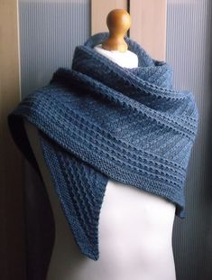 Ravelry: Sapphire Shawl pattern by Brian Smith. I've been really drawn to textured stitch shawls, and this one is gorgeous