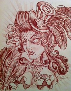 deviantART: More Like Day of the Dead gypsy drawing by ~misscarissarose