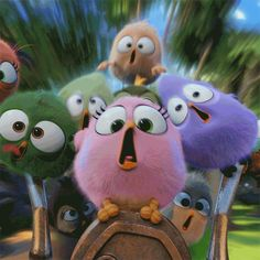 Angry Birds, Finnish Animation, May 2016 Cute Disney Wallpaper, Cute Cartoon Wallpapers, Bird Wallpaper, Animal Wallpaper, Gif Animé, Animated Gif, All Angry Birds, Bird Gif, Emoji Symbols