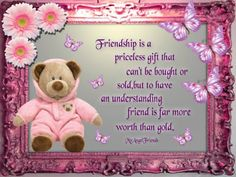friendship day wishes Friendship Day Poems, Friendship Pictures, Genuine Friendship, Friend Friendship, Bff Images, Images Photos, Teddy Bear Quotes, Friendship Wallpaper, Best Friend Poems