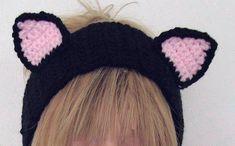 Crochet Cat Ear head Band | Craftsy