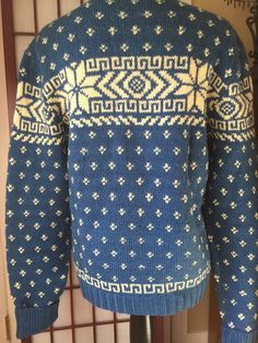Hand Knit Snowflake Sweater  Vintage Sweater  by PineStreetPickers#EtsyGifts