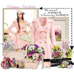 Happy Easter !, created by fantasy-rose on Polyvore