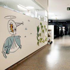 chispum-proyecto-humanizacion- entornos-hospitalarios-valldhebron // Chispum dissenya els vinils de la zona infantil de l'Hospital Vall d'Hebron.
