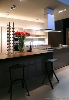 Modern Luxury Kitchen with Island Seating. Probably my favorite breakfast bar so far.