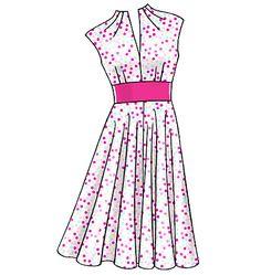 V8633, Misses' Dress
