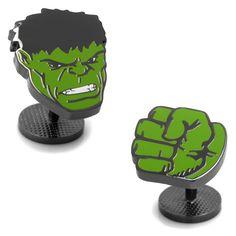 Marvel The Incredible Hulk Comics Cuff Links, Men's, Green