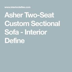 The Asher custom sectional sofa is all about the angles. Its trapezoidal arm and mitered corners make for an affordable sectional sofa that is anything but simplistic. Sectional Sofa, Couches, Leather Pillow, Bench Cushions, Color Blending, Animals For Kids, Soft Fabrics, House Styles, Coffee Tables