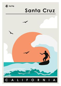 - · Surfing poster with minimal style - available online from Canvas Wall Art, Wall Art Prints, Plakat Design, Surfing Pictures, Vintage Mermaid, Hippie Art, Photo Wall Collage, Surf Art, Minimal Style