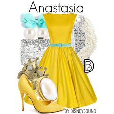 A fashion look from December 2014 featuring Schutz pumps, Kenneth Jay Lane rings and Disney Couture rings. Browse and shop related looks.