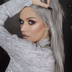 Grey hair #Dye #HairColour