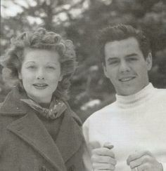 Lucy & Desi on their honeymoon, 1940.