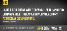 We're counting down top reasons not to text and drive. Did you know this fact about texting while driving? Texting While Driving, Distracted Driving, Dont Text And Drive, Trauma Center, The Cell, Text Messages, Losing Me, Did You Know, Texts